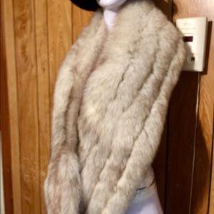 Vintage Rabbit Hair Stole/Wrap - Authentic Rabbit